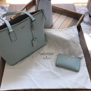 Like New Kate Spade tote and wallet bundle